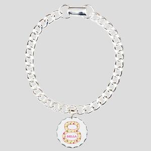 8th Birthday Personalize Charm Bracelet, One Charm