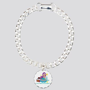 Purple Mermaid Bracelet Charm Bracelet, One Charm