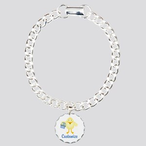 Custom Easter Chick Charm Bracelet, One Charm