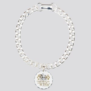"Hamlet ""Be True"" Quote Charm Bracelet, One Charm"