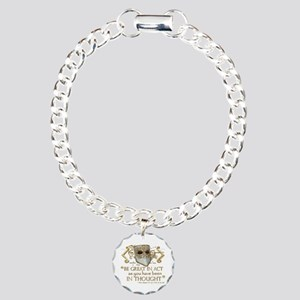 Shakespeare Great In Thought Quote Charm Bracelet,