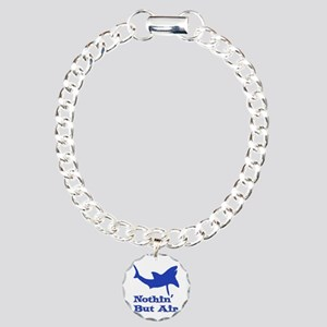Leaping Great White Charm Bracelet, One Charm