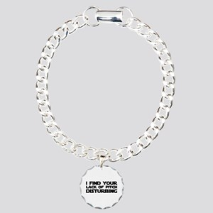 Lack of Pitch Charm Bracelet, One Charm