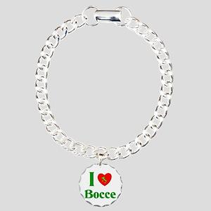I Love Bocce Charm Bracelet, One Charm
