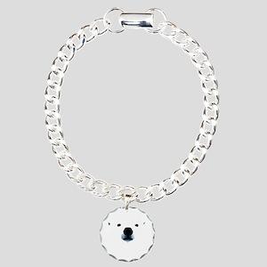 Polar Bear Face Charm Bracelet, One Charm