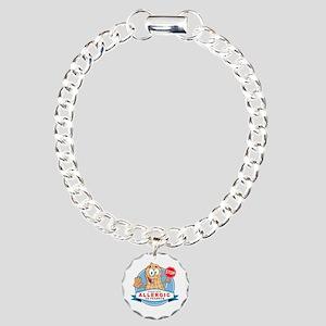 Allergic to Peanuts Charm Bracelet, One Charm