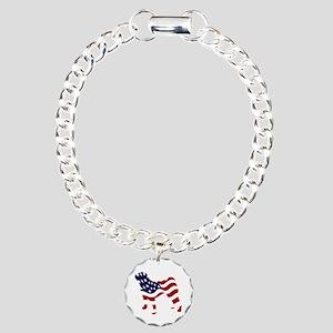 Patriotic Pug - Charm Bracelet, One Charm