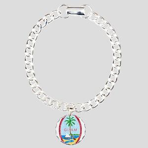 Guam Coat Of Arms Charm Bracelet, One Charm