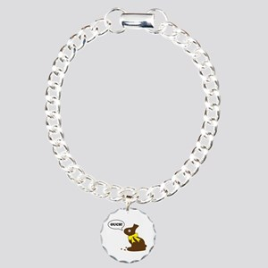 Bunny Ouch Charm Bracelet, One Charm