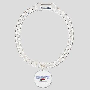 Charlotte, North Carolina NC USA Charm Bracelet, O