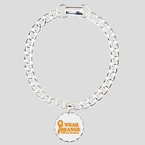 I wear orange brother Charm Bracelet, One Charm