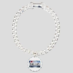 Texas License Plate [DALLAS] Charm Bracelet, One C