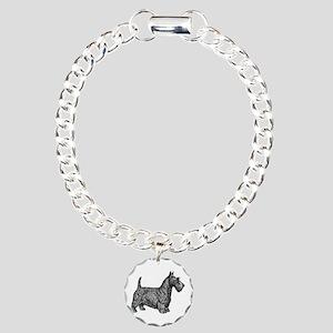 Scottish Terrier Charm Bracelet, One Charm