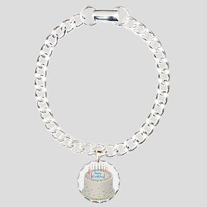 Happy Birthday Cake Charm Bracelet, One Charm