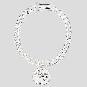 Rescue Dog Mom Charm Bracelet, One Charm