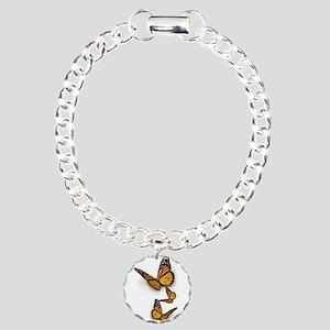Monarch Butterlies Charm Bracelet, One Charm