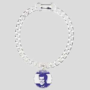 Kennedy Campaign Charm Bracelet, One Charm