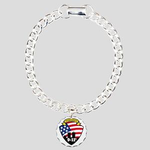 9-11 Charm Bracelet, One Charm