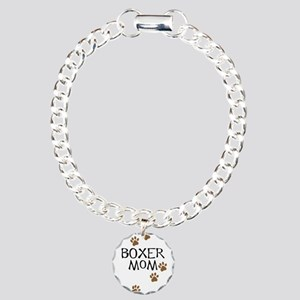 Boxer Mom Charm Bracelet, One Charm