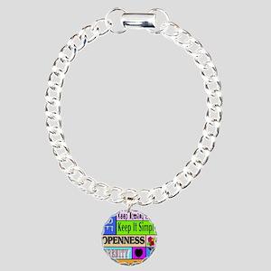 12 step sayings Charm Bracelet, One Charm