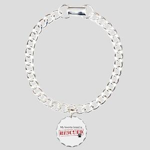 Favorite Breed Is Rescued Charm Bracelet