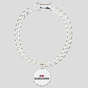 I love Marathon Charm Bracelet, One Charm
