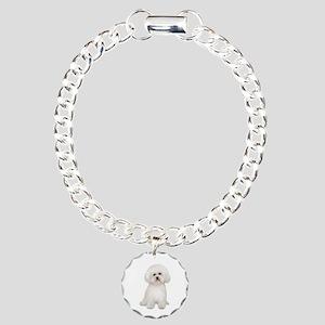 Bichon Frise #2 Charm Bracelet, One Charm