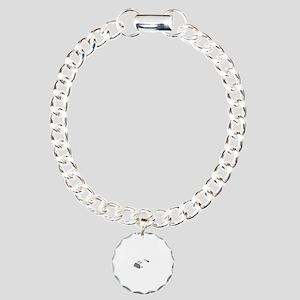 Aviation Broke White Tex Charm Bracelet, One Charm