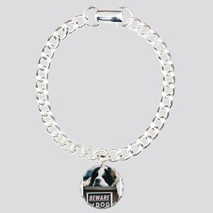 Beware of Dog Charm Bracelet, One Charm