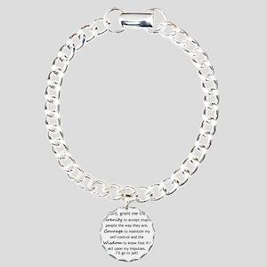 Sarcastic Serenity Praye Charm Bracelet, One Charm