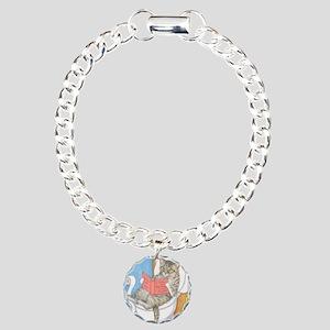 Cat 535 Charm Bracelet, One Charm
