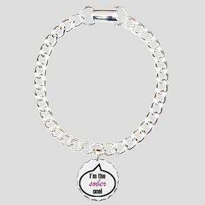 Im_the_sober Charm Bracelet, One Charm