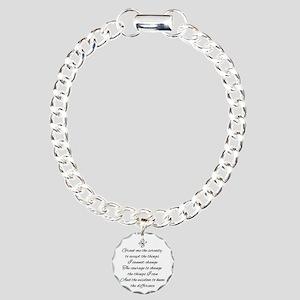 Serenity Prayer Bracelet Charm Bracelet, One Charm