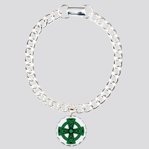 Celtic Cross Charm Bracelet, One Charm