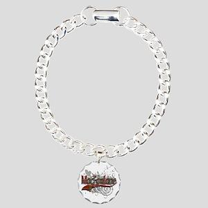 MacFarlane Tartan Grunge Charm Bracelet, One Charm