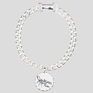 Chrome Scorpion 1 Charm Bracelet, One Charm