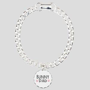 Bunny Dad Charm Bracelet, One Charm