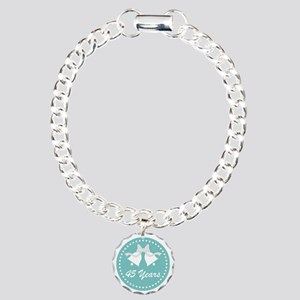 45th Anniversary Wedding Charm Bracelet, One Charm