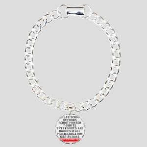 SLU_outlaw_school_unifor Charm Bracelet, One Charm