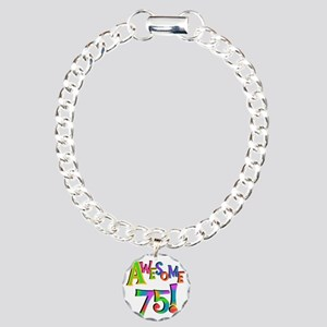 Awesome 75 Birthday Charm Bracelet, One Charm