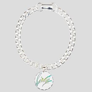 30th birthday, stylish 3 Charm Bracelet, One Charm