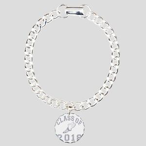 CO2018 Track Grey Distre Charm Bracelet, One Charm