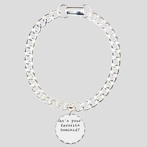 Whosyourfavoritehominid Charm Bracelet, One Charm