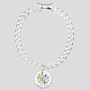 Happy Easter Charm Bracelet, One Charm