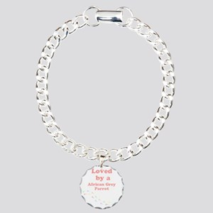 Loved by aAfrican Grey P Charm Bracelet, One Charm