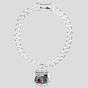 Route 66 - Amblers Texac Charm Bracelet, One Charm