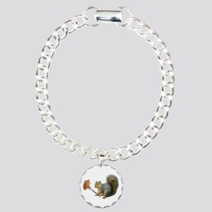 Squirrel Acorn Fork Charm Bracelet, One Charm
