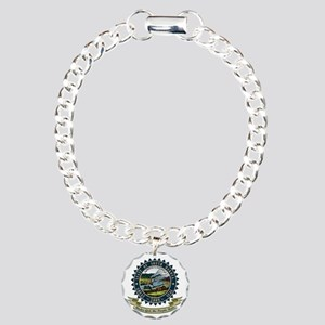 South Dakota Seal Charm Bracelet, One Charm