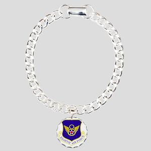 USAF-8th-AF-Shield-Bonni Charm Bracelet, One Charm