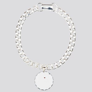 GOLF CART DUDE white ima Charm Bracelet, One Charm